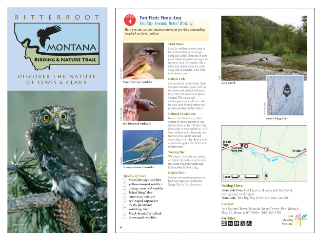 Montana Birding and Nature Trail